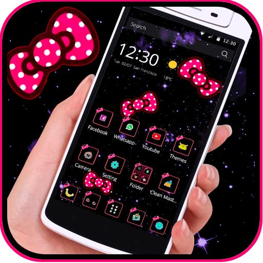 Bow Knot Pink Dot Solemn Theme Aplikasi Di Google Play