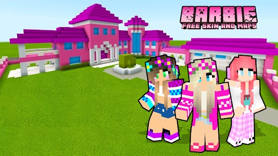 Free Barbie Skin amp  Maps House For MINECRAFT PE Apk Download 2021 3