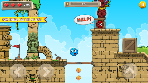 Blue Ball 11: Bounce Ball Adventure 2.1 screenshots 3