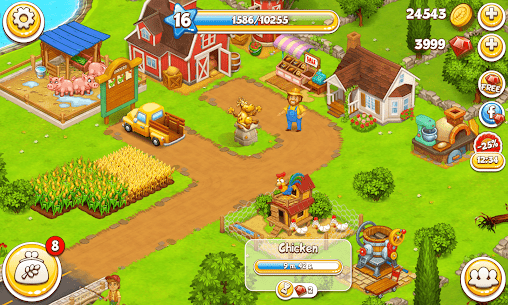 Farm Town: Happy village near small city and town 5