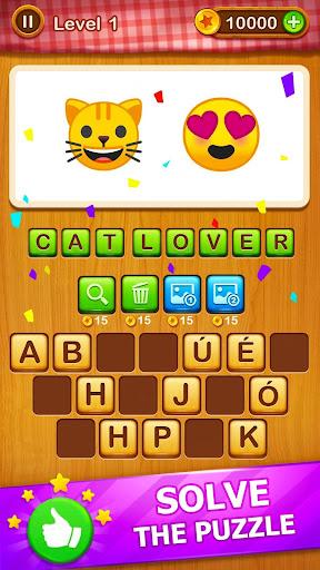 2 Emoji 1 Word - Guess Emoji Word Games Puzzle  Screenshots 9