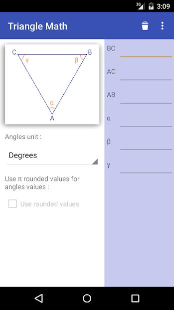 Screenshot 2 de Triangle Math - Trigonometry para android
