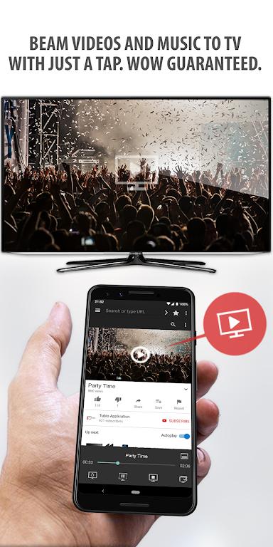Tubio - Cast Web Videos to TV, Chromecast, Airplay  poster 0