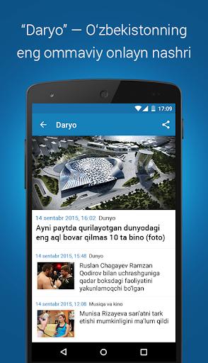 Daryo u2014 Ou2018zbekiston xabarlari  Screenshots 1