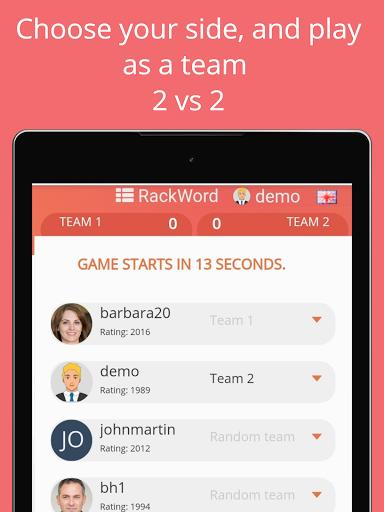 Rackword - Free real-time multiplayer word game screenshots 11