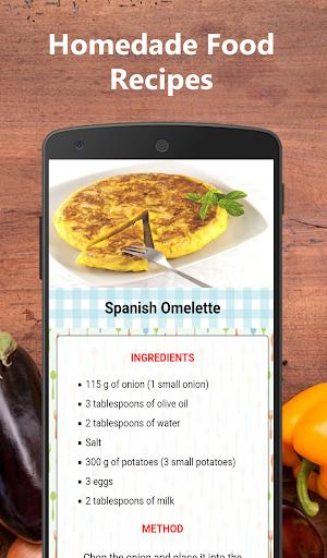 Homemade food recipes for free  screenshots 1