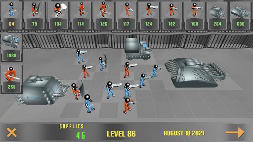 Stickman Prison Battle Simulator: Zombies screenshots 1