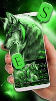 Green Wild Wolf Keyboard Theme