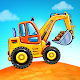 Truck games for kids - build a house, car wash cover