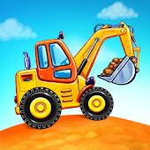 icono Juegos de camiones para niños - construcción casas
