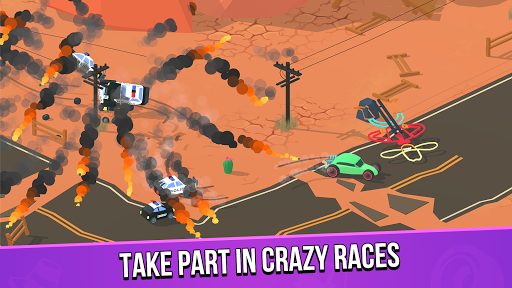 Smash racing: drive from cops, make an epic crash! screenshots 1
