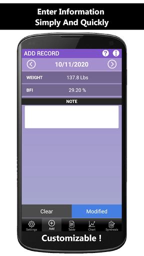 Weigh-In Deluxe Weight Tracker screenshot 1
