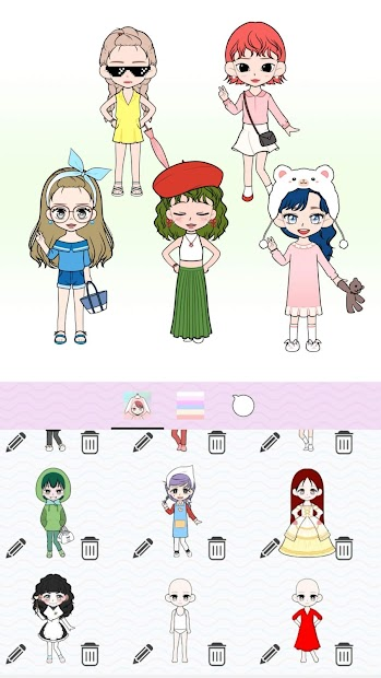 Captura 6 de My Webtoon Character Girls - K-pop IDOL Maker para android
