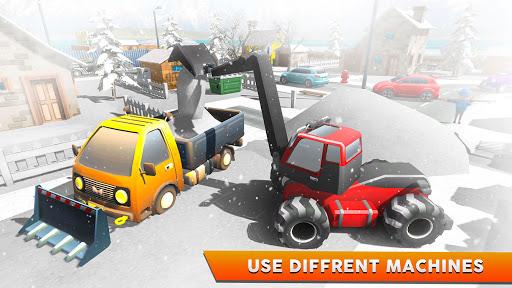 Télécharger Excavatrice de sauvetage sur neige - Simulation 3D APK MOD (Astuce) screenshots 2