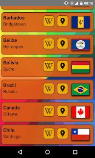 World Capitals (Quiz). Educational game.