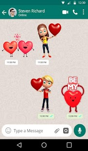 3D Romantic Stickers for whatsapp: WAStickerApps Screenshot