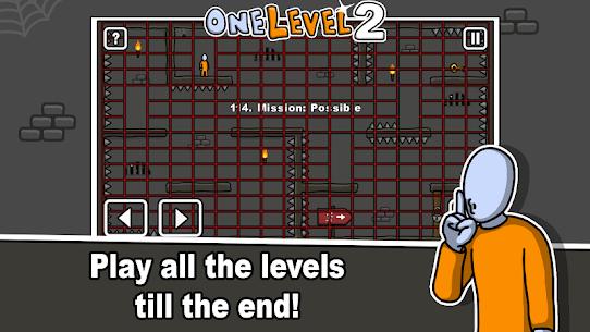 One Level 2: Stickman Jailbreak Mod Apk 1.8.1 4