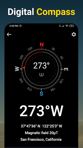 Compass - Accurate & Digital Compass for Android apktram screenshots 1