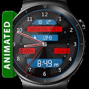 Black Metal LED HD WatchFace Widget Live Wallpaper