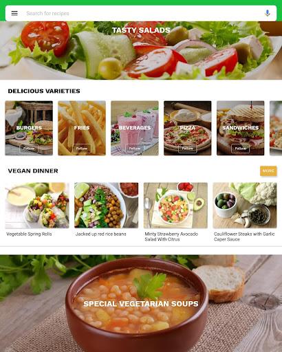 Foto do Vegetarian recipes - Vegan Cookbook