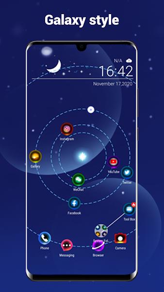 NewLook Launcher - Galaxy star map launcher, new