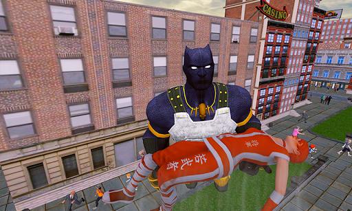 grand panther flying superhero city battle screenshot 2