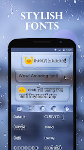 Water Drops Theme - Keyboard Theme for Android
