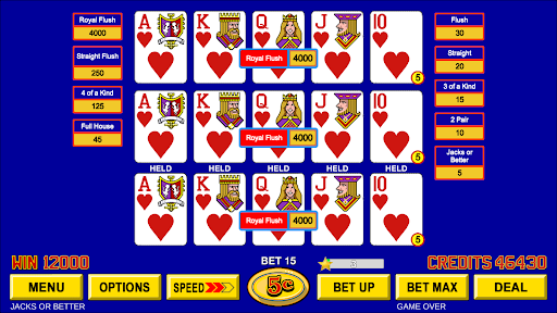 Video Poker - Classic Casino Games Free Offline  screenshots 8