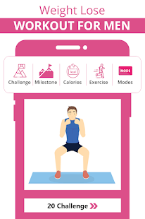 Lose weight for men in 30 days: Home workout app