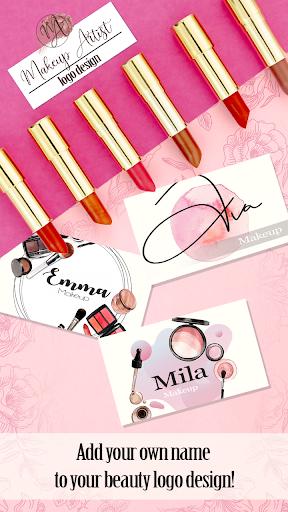 Makeup Artist Logo Design Maker  Screenshots 2