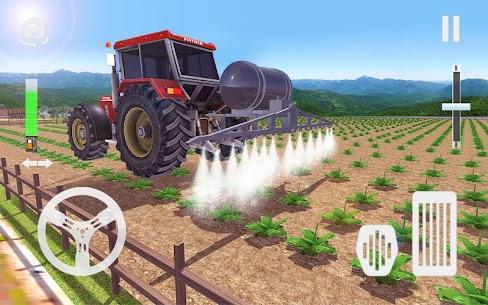 Real Tractor Farming Game 2021  Modern Farmer Apk Download 5
