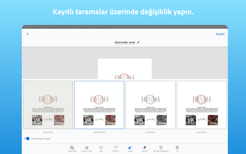 Adobe Scan: PDF Tarayıcı, OCR Screenshot