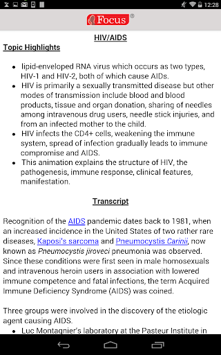 HIV and Aids 1.0.2 Screenshots 4
