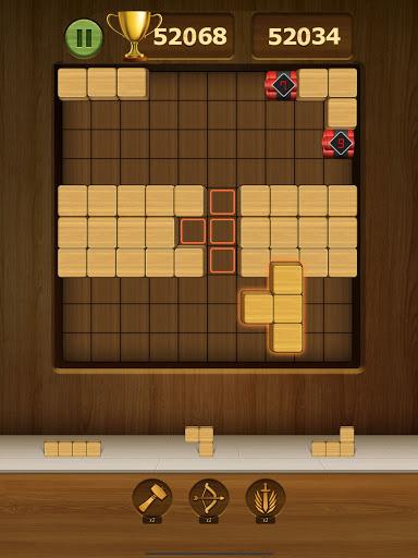 Wood Block Puzzle 2021 - Wooden 3D Cube Puzzle Gem goodtube screenshots 10