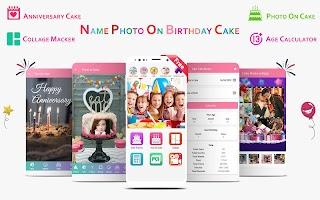 Birthday Cake Editor with Name & Photo Frames 2020
