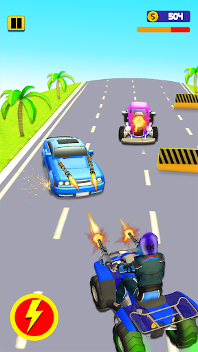 Quad Bike Traffic Shooting Games 2020: Bike Games 3.1 screenshots 10