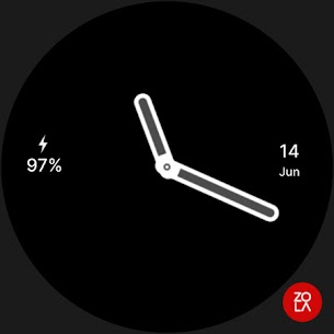 Hybrid Red Watch Face 5