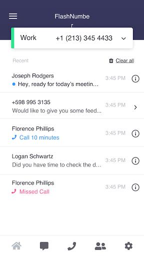 FlashNumber - second phone number  Screenshots 3