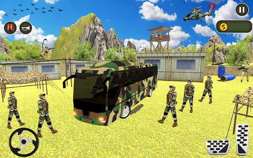 Army Bus Driving 2020 US Military Coach Bus Games screenshots 1