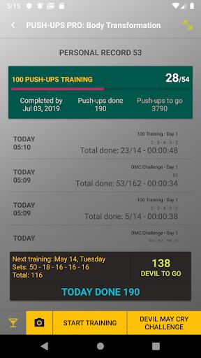 home workout - push up 10 years body transform pro screenshot 1