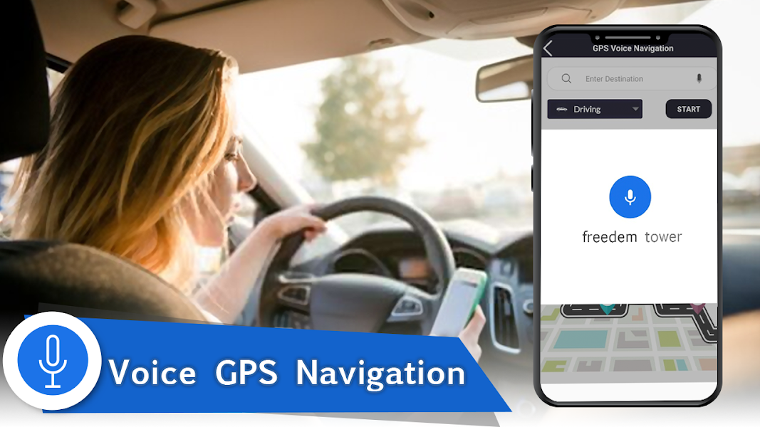 Voice GPS Navigation 2020 - Live Earth Map Parking