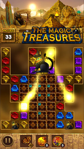 The magic treasures: Pharaoh's empire puzzle apkslow screenshots 4