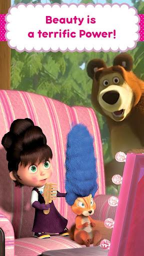 Masha and the Bear: Hair Salon and MakeUp Games apkpoly screenshots 5