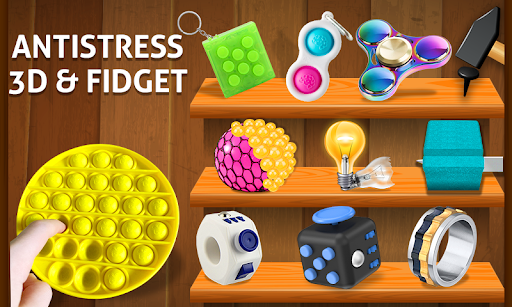 Anti stress fidgets 3D cubes - calming games  screenshots 1