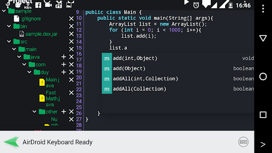 Java N-IDE - Android Builder - Java SE Compiler Screenshot