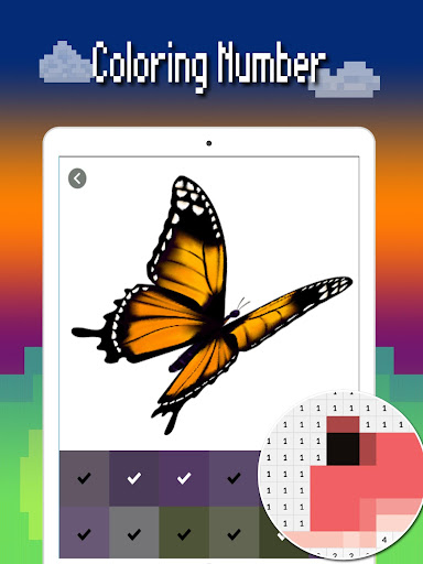 Butterfly color by number : Bugs coloring book 1.4 screenshots 9