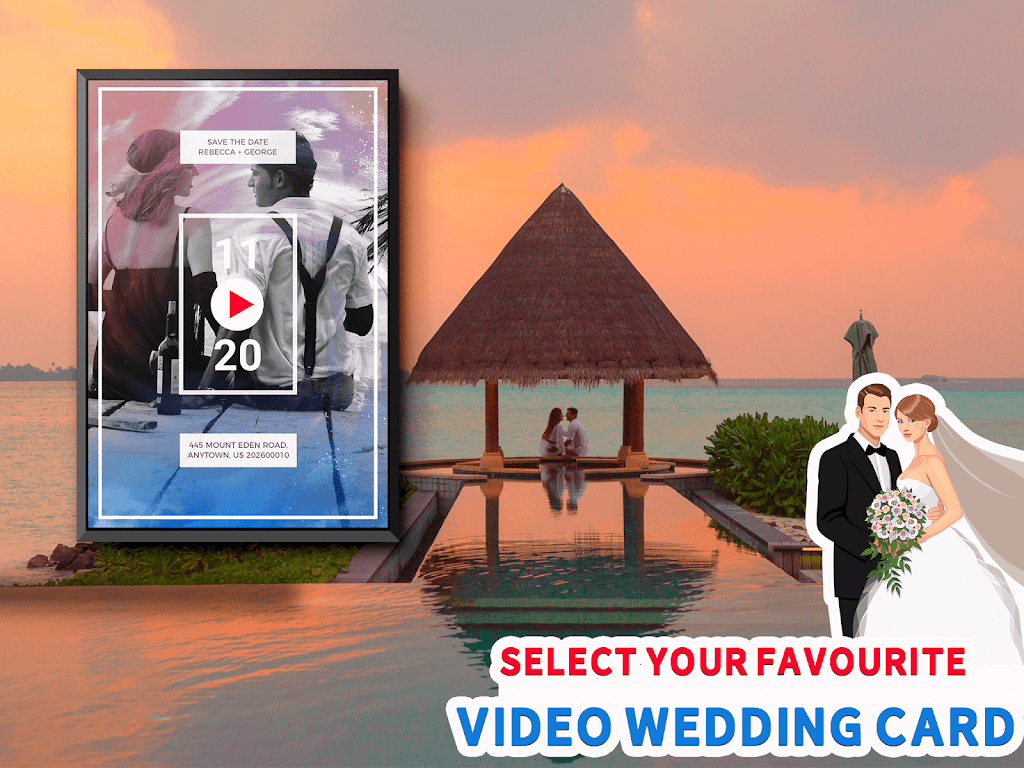 Wedding Card Design & Photo Video Maker With Music  poster 17