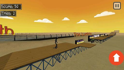 stickman extreme skateboard screenshot 1