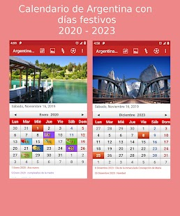 Argentina Calendario 2020 Screenshot
