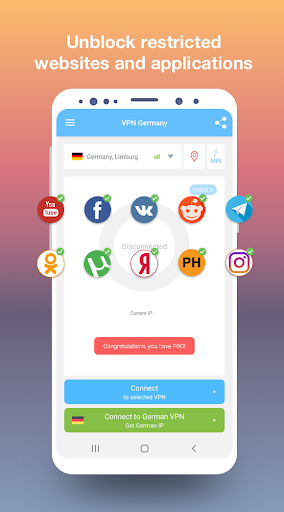 VPN Germany - Free and fast VPN connection 1.49 screenshots 2